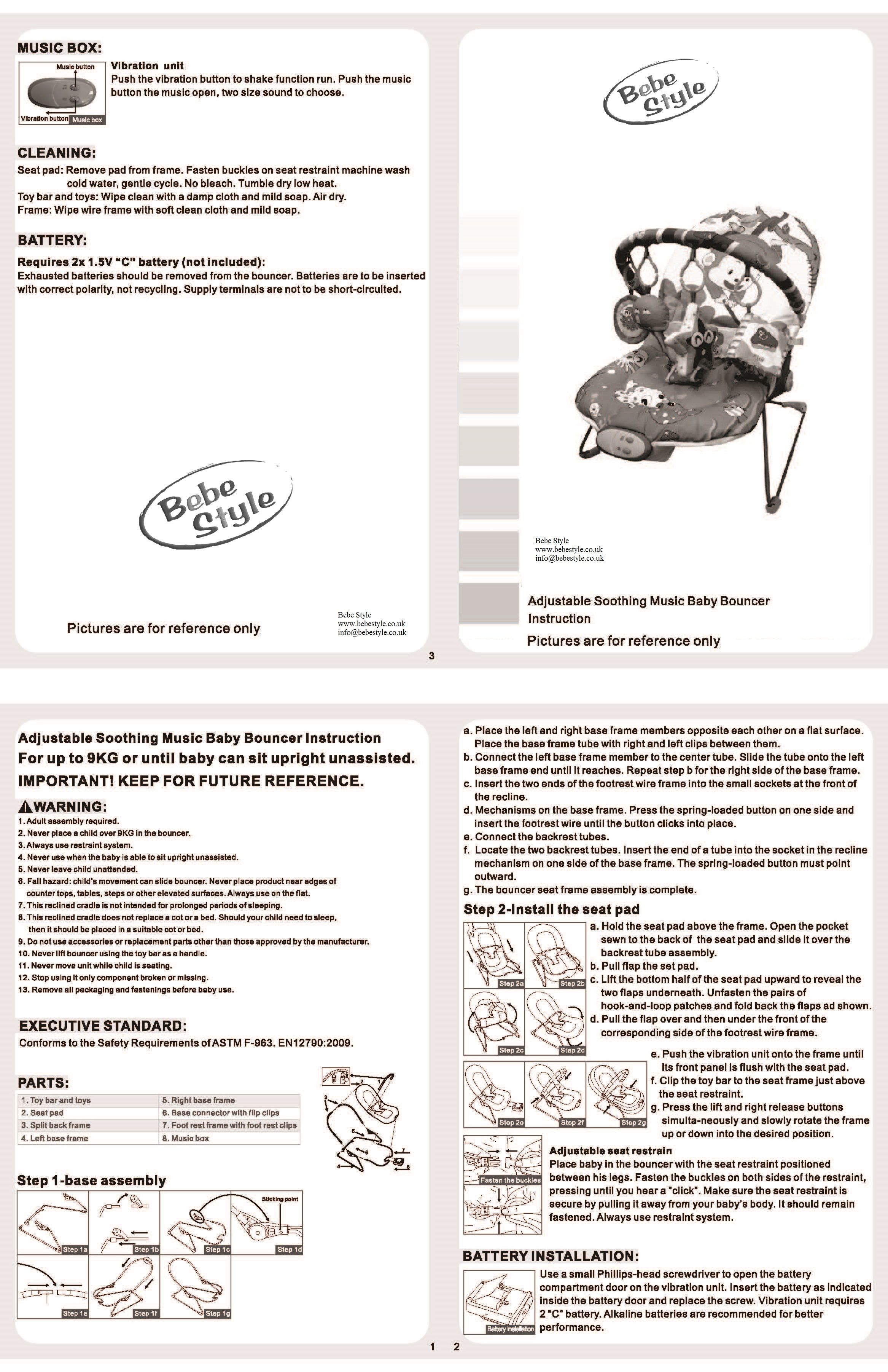 Bebe Style Car Seat Instructions